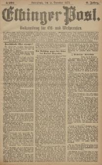 Elbinger Post, Nr. 292 Sonnabend 13 Dezember 1879, 6 Jahrg.