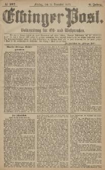 Elbinger Post, Nr. 297 Freitag 19 Dezember 1879, 6 Jahrg.