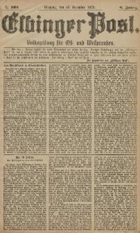 Elbinger Post, Nr. 304 Dienstag 30 Dezember 1879, 6 Jahrg.