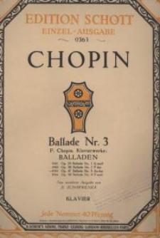 Ballade, No 3. Op. 47 : As- dur