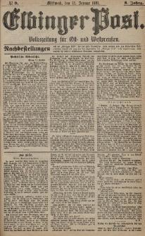 Elbinger Post, Nr. 9, Mittwoch 12 Januar 1881, 8 Jahrg.