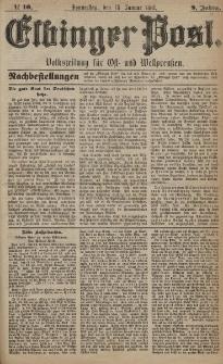 Elbinger Post, Nr. 10, Donnerstag 13 Januar 1881, 8 Jahrg.