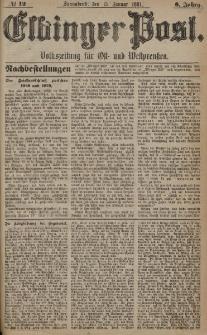 Elbinger Post, Nr. 12, Sonnabend 15 Januar 1881, 8 Jahrg.