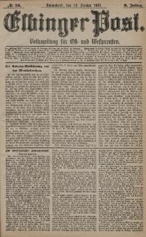 Elbinger Post, Nr. 18, Sonnabend 22 Januar 1881, 8 Jahrg.