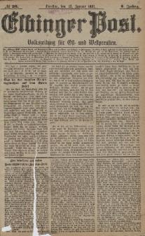 Elbinger Post, Nr. 20, Dienstag 25 Januar 1881, 8 Jahrg.