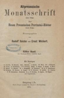 Altpreussische Monatsschrift, 1874, Bd. 11