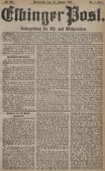 Elbinger Post, Nr. 24, Sonnabend 29 Januar 1881, 8 Jahrg.