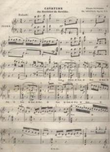 Cavatine du : Barbier se Seville. Op. 69