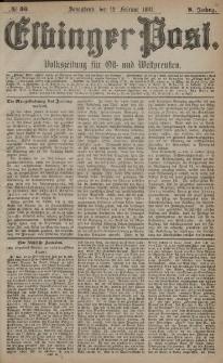 Elbinger Post, Nr. 36, Sonnabend 12 Februar 1881, 8 Jahrg.