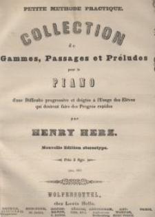 Collection de Gammes, Passages et Préludes pour Piano