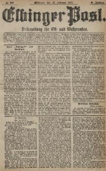 Elbinger Post, Nr. 39, Mittwoch 16 Februar 1881, 8 Jahrg.