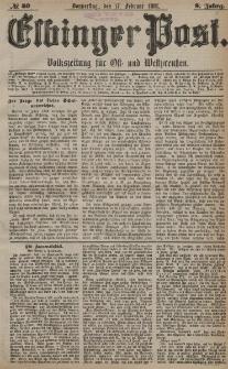 Elbinger Post, Nr. 40, Donnerstag 17 Februar 1881, 8 Jahrg.