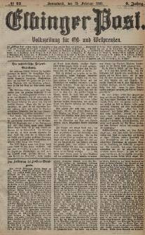 Elbinger Post, Nr. 42, Sonnabend 19 Februar 1881, 8 Jahrg.