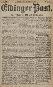 Elbinger Post, Nr. 44, Dienstag 22 Februar 1881, 8 Jahrg.