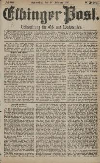 Elbinger Post, Nr. 46, Donnerstag 24 Februar 1881, 8 Jahrg.