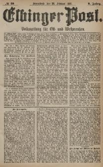 Elbinger Post, Nr. 48, Sonnabend 26 Februar 1881, 8 Jahrg.