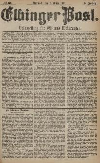 Elbinger Post, Nr. 51, Mittwoch 2 März 1881, 8 Jahrg.