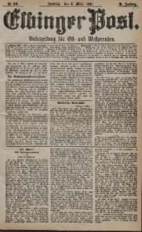Elbinger Post, Nr. 55, Sonntag 6 März 1881, 8 Jahrg.