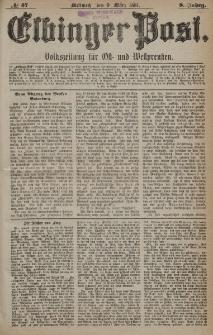 Elbinger Post, Nr. 57, Mittwoch 9 März 1881, 8 Jahrg.