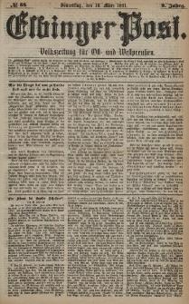 Elbinger Post, Nr. 58, Donnerstag 10 März 1881, 8 Jahrg.