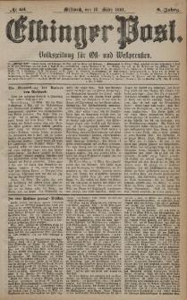 Elbinger Post, Nr. 63, Mittwoch 16 März 1881, 8 Jahrg.
