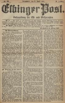 Elbinger Post, Nr. 84, Sonnabend 9 April 1881, 8 Jahrg.