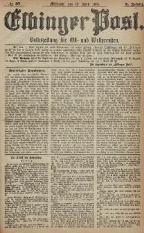 Elbinger Post, Nr. 87, Mittwoch 13 April 1881, 8 Jahrg.