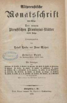 Altpreußische Monatsschrift, 1873, Bd. 10