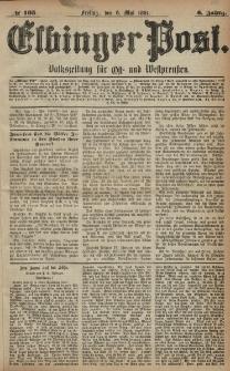 Elbinger Post, Nr. 105, Freitag 6 Mai 1881, 8 Jahrg.
