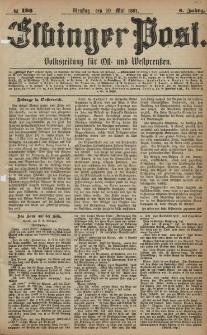 Elbinger Post, Nr. 108, Dienstag 10 Mai 1881, 8 Jahrg.