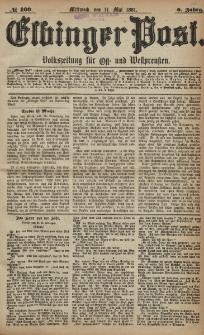 Elbinger Post, Nr. 109, Mittwoch 11 Mai 1881, 8 Jahrg.