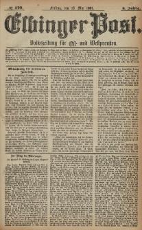 Elbinger Post, Nr. 110, Freitag 13 Mai 1881, 8 Jahrg.