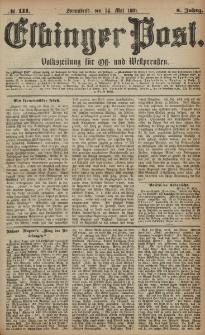 Elbinger Post, Nr. 111, Sonnabend 14 Mai 1881, 8 Jahrg.