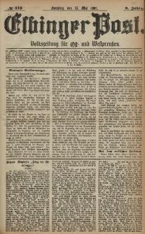 Elbinger Post, Nr. 112, Sonntag 15 Mai 1881, 8 Jahrg.
