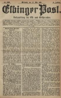 Elbinger Post, Nr. 120, Mittwoch 25 Mai 1881, 8 Jahrg.