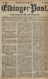 Elbinger Post, Nr. 121, Donnerstag 26 Mai 1881, 8 Jahrg.