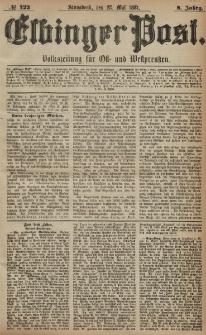Elbinger Post, Nr. 122, Sonnabend 28 Mai 1881, 8 Jahrg.