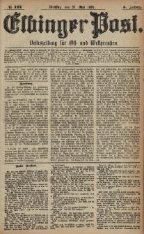Elbinger Post, Nr. 124, Dienstag 31 Mai 1881, 8 Jahrg.
