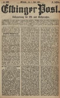 Elbinger Post, Nr. 125, Mittwoch 1 Juni 1881, 8 Jahrg.