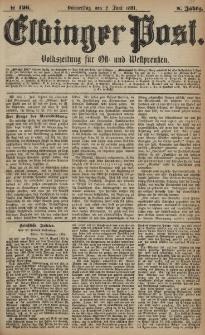 Elbinger Post, Nr. 126, Donnerstag 2 Juni 1881, 8 Jahrg.