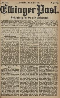 Elbinger Post, Nr. 131, Donnerstag 9 Juni 1881, 8 Jahrg.