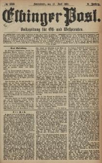 Elbinger Post, Nr. 133, Sonnabend 11 Juni 1881, 8 Jahrg.