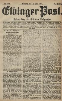 Elbinger Post, Nr. 136, Mittwoch 15 Juni 1881, 8 Jahrg.