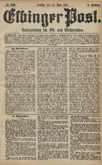 Elbinger Post, Nr. 138, Freitag 17 Juni 1881, 8 Jahrg.