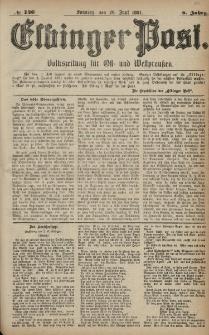 Elbinger Post, Nr. 146, Sonntag 26 Juni 1881, 8 Jahrg.