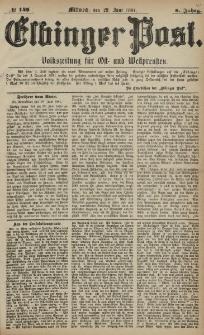 Elbinger Post, Nr. 148, Mittwoch 29 Juni 1881, 8 Jahrg.
