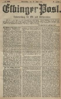 Elbinger Post, Nr. 149, Donnerstag 30 Juni 1881, 8 Jahrg.