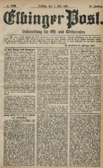 Elbinger Post, Nr. 150, Freitag 1 Juli 1881, 8 Jahrg.