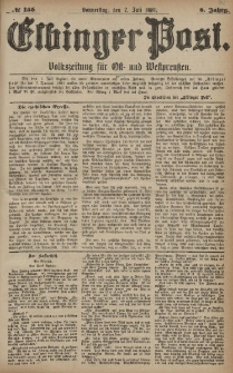 Elbinger Post, Nr. 155, Donnerstag 7 Juli 1881, 8 Jahrg.