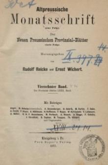 Altpreussische Monatsschrift, 1877, Bd. 14